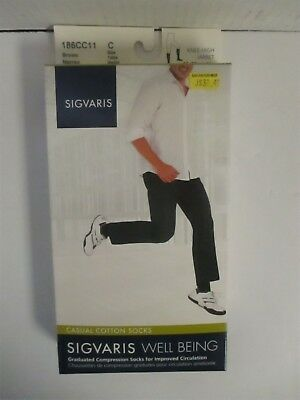 Sigvaris Well Being Casual Cotton Socks Size C Brown - Rc 6291