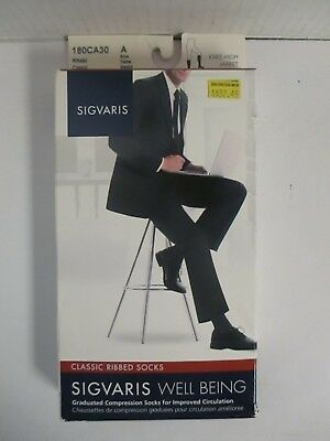 Sigvaris Well Being Classic Ribbed Socks Size A Khaki - Rc 6270