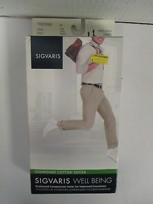 Sigvaris Well Being Cushioned Cotton Socks Size A Black - Rc 6294