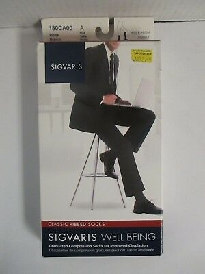 Sigvaris Well Being Classic Ribbed Socks Size A White - Rc 6271