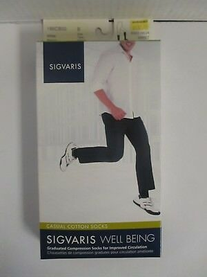 Sigvaris Well Being Casual Cotton Socks Size B White - Rc 6288