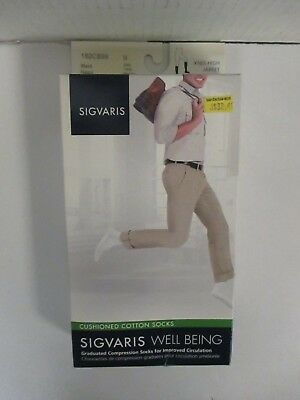 Sigvaris Well Being Cushioned Cotton Socks Size B Black - Rc 6296