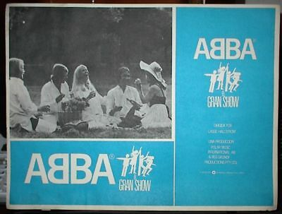 "ABBA THE MOVIE,1977, Set of 7 Original Authentic Lobby Cards, Appx 16.5"" X 12.5"""