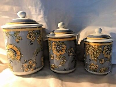 Royal Doulton 3 Pc. Capri Canister Set - No Box - Perfect Condition