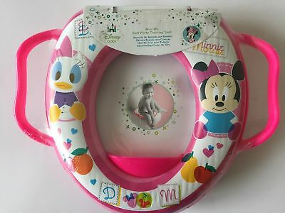 Disney Kids Baby Soft Padded Toilet Trainer Seat Pink