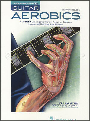 Guitar Aerobics 52 Week Workout TAB Music Book with Audio By Troy Nelson