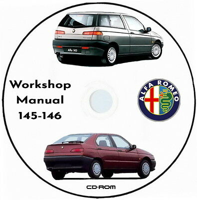 Workshop Manual Alfa Romeo 145/146.Manuale Officina in Inglese AlfaRomeo 145/146