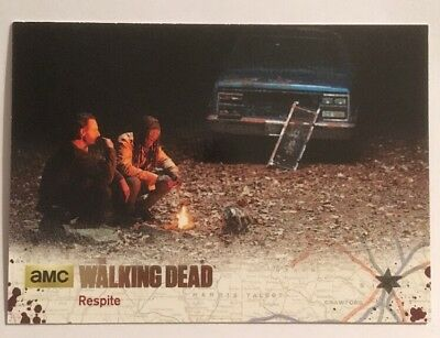 #66 Respite Card 6/25 Silver Parallel 2016 The Walking Dead Season 4 Part 2