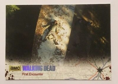 #51 First Encounter Card 75/99 Silver Parallel The Walking Dead Season 4 Part 2