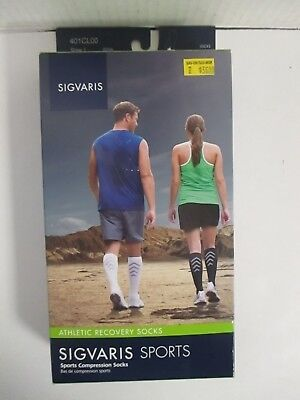Sigvaris Sports Athletic Recovery Socks Size Large White - Rc 6303
