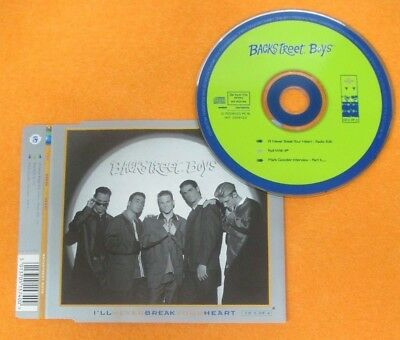 CD Singolo BACKSTREET BOYS NEVER BREAK YOUR HEART 1996 JIVE JIVE RCD 406 (S33)