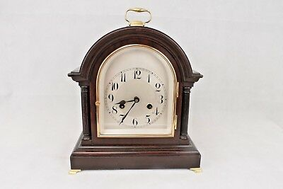 Working Antique Dark Mahogany Junghans, Chiming, 8 Day Mantel/Bracket Clock.