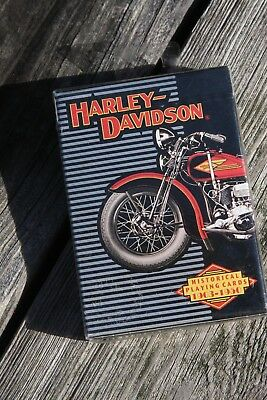 Sealed Playing Cards Harley Davidson Card Deck 1997 Historical 1903-1950