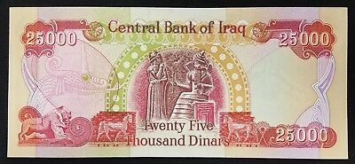 25,000 Dinar Notes from The Central Bank of Iraq! Crisp, uncirculated condition!