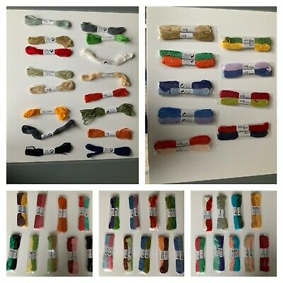 16  x 100% cotton Skeins Coloured Embroidery Thread Cotton Cross Stitch/sewing