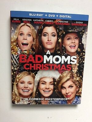 A Bad Moms Christmas (Blu-ray/DVD, 2018,Digital HD) NEW w/slipcover