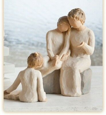 Willow Tree Grandmother with Two Granddaughters Figurine Gift Set Family Group