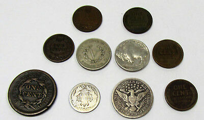 Collector Lot of 10 US Type Coins - Good Mix of Coins!