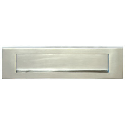 "Letter Box Plate - SATIN CHROME | Bolt Centres 268mm - VICTORIAN | (12"" x 4"")"