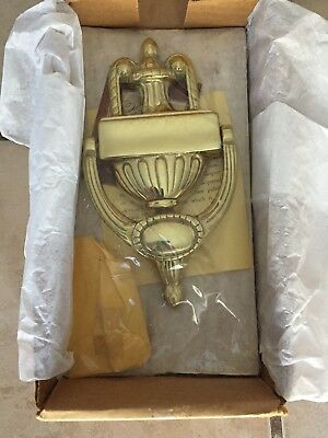 Vintage Solid Brass Virginia Metalcrafters CW 17-67 Door Knocker New In Box
