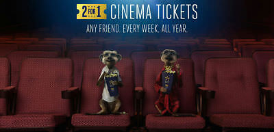 4-for-2 Cinema Ticket Codes-Odeon Vue Cineworld: Tuesday/Wednesday 15/16 January