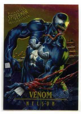 Spider-Man Fleer-Ultra Chrome Masterpiece Card - #7 - Venom - Nelson