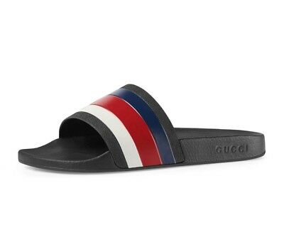 3871ad25d562 GUCCI PURSUIT  72 Rubber Slide Sandal 10 US  9 UK RED WHITE AND BLUE ...