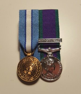 UN Cyprus & General Service Medal Northern Ireland Miniature Medals Mounted GSM