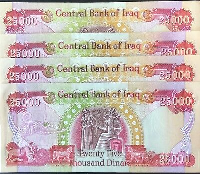 100,000 Iraqi Dinar (Iqd) - Official, Active Currency - Authentic