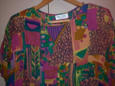 VINTAGE 1980s CRAZY JAPANESE 2 PIECE  PLAY SUIT SIZE 10 GOOD CONDITION