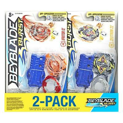 New Beyblade Burst 2-Pack Value Starter Pack Ifritor I2 and Zeutron Z2 Hasbro