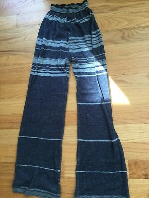 Sansha Knit Dance Warm Up Pants Size 5 Blue/Gray