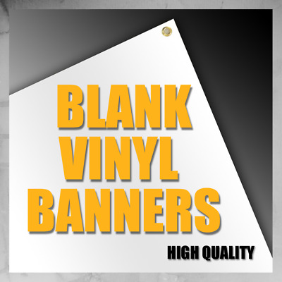 4'x2' Blank Vinyl Banner 13oz White Grommets Quality Made In USA
