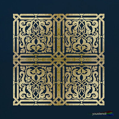 Moroccan Tile Stencil for Walls & Furniture  ST79