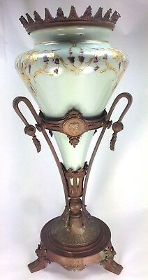 Antique Magnificent French  Large Bronze and Hand Painted Porcelain Vase