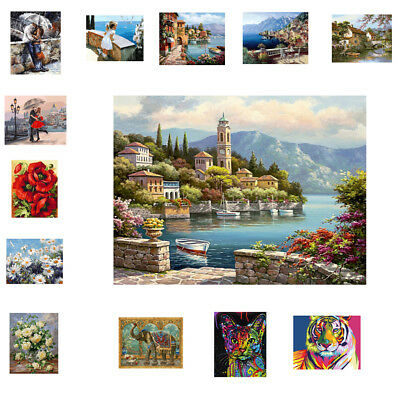 DIY Paint By Number Kit Oil Painting on Canvas Wall Artwork for Kids Adults