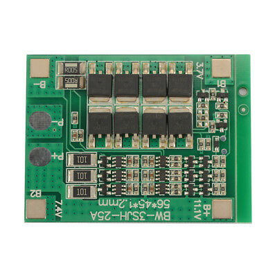 3S 25A 12V BMS 18650 Li-ion Lithium Battery Lipo Charging Protection Board TE910