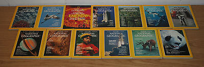 1981 Complete Year of National Geographic Magazine, January-December, Set of 12