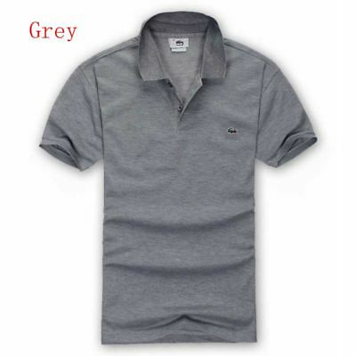 2018 New Men's Casual Cotton Tip Collar Polo Shirt T-shirt Short Sleeve