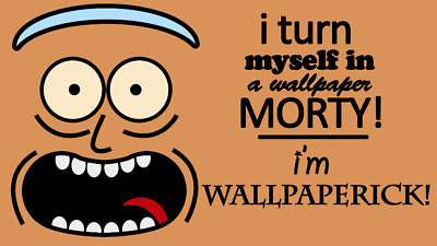 TV Show Rick and Morty Silk poster 14 X 24 inch wallpaper