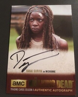 Danai Gurira as Michonne Authentic Autograph Gold Walking Dead Season 4 Part 2