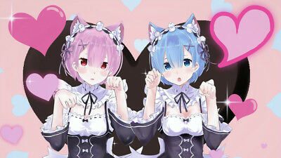 ReZERO Starting Life in Another World Silk poster wallpaper 24 X 13 inches