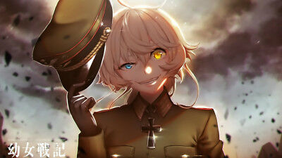 Silk Poster Youjo Senki Saga of Tanya the Evil Wall Decor Custom