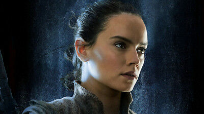 Rey chewbacca star wars the last jedi Silk Poster Wallpaper 24 X 13 inch