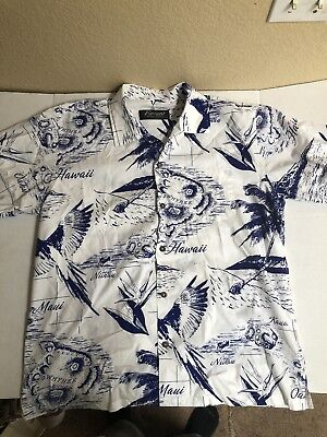 3a7a4bac FAVANT 100% Cotton Short Sleeve Button Down Hawaiian Shirt Size Large  Pre-owned