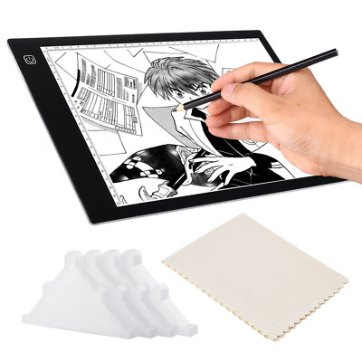 Light Box for Tracing Drawing, A4 Ultra Thin Pad, 3 Levels Dimming, 4Pcs Safety