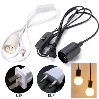 E27 6ft Plug In Lamp Bulb Socket Cord With Switch Hanging