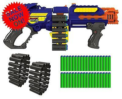 Gun Zombie Blaster Strike Rapid Fire Foam Soft Darts Nerf Kids Toy Christmas  Ne