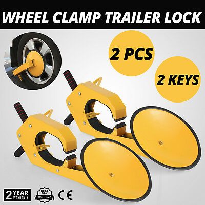 2PCS Anti Theft Car Tire Claw Wheel Clamp Lock Heavy duty Protection Reliable
