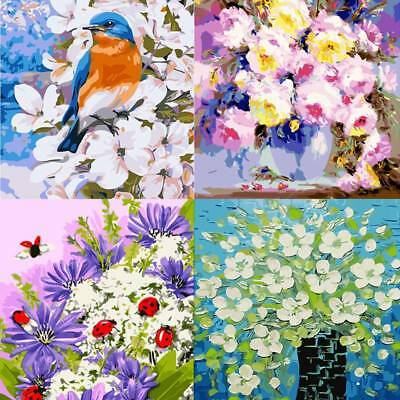 Modern DIY Oil Painting Paint By Number Kits Flowers Home Wall Art Decal Decors